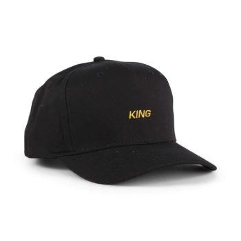 King Defy Curved Peak Cap - Black