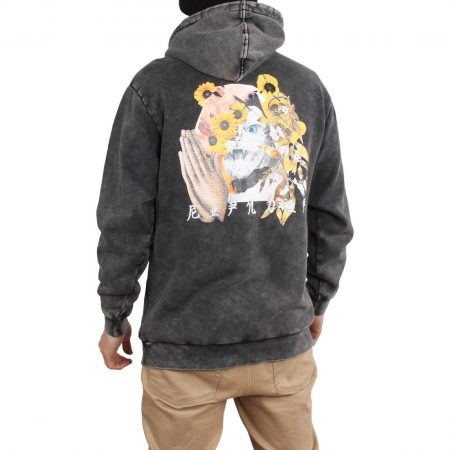 RIPNDIP Chaos Embroidered Hoodie - Black Mineral Wash