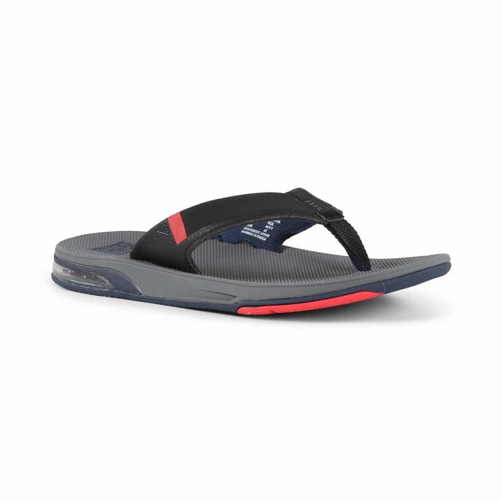 a41f2b1bf489 Reef Fanning Low Sandals - Grey   Black   Red