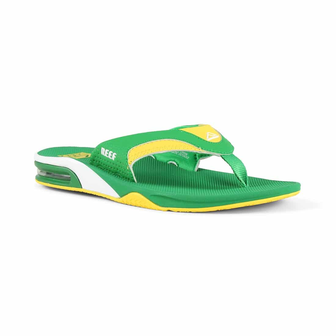 Reef Fanning Sandals Green Yellow