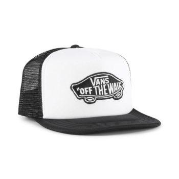 Vans Classic Patch Trucker Hat - White / Black