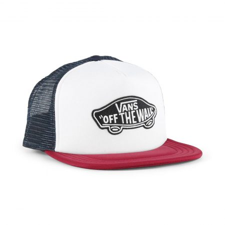 Vans Classic Patch Trucker Hat - White / Rumba Red