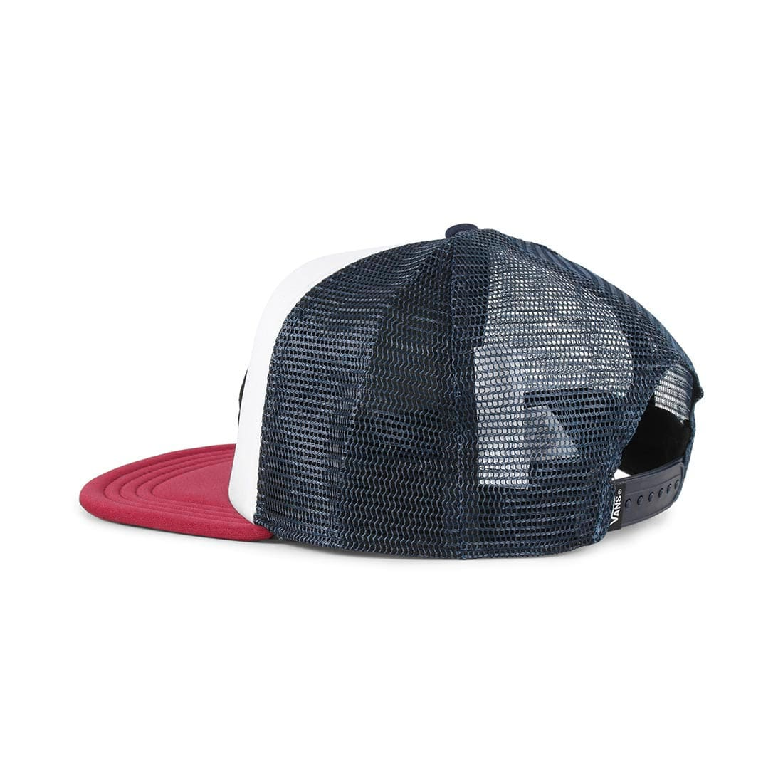 36a21581 Vans Classic Patch Trucker Hat - White / Rumba Red