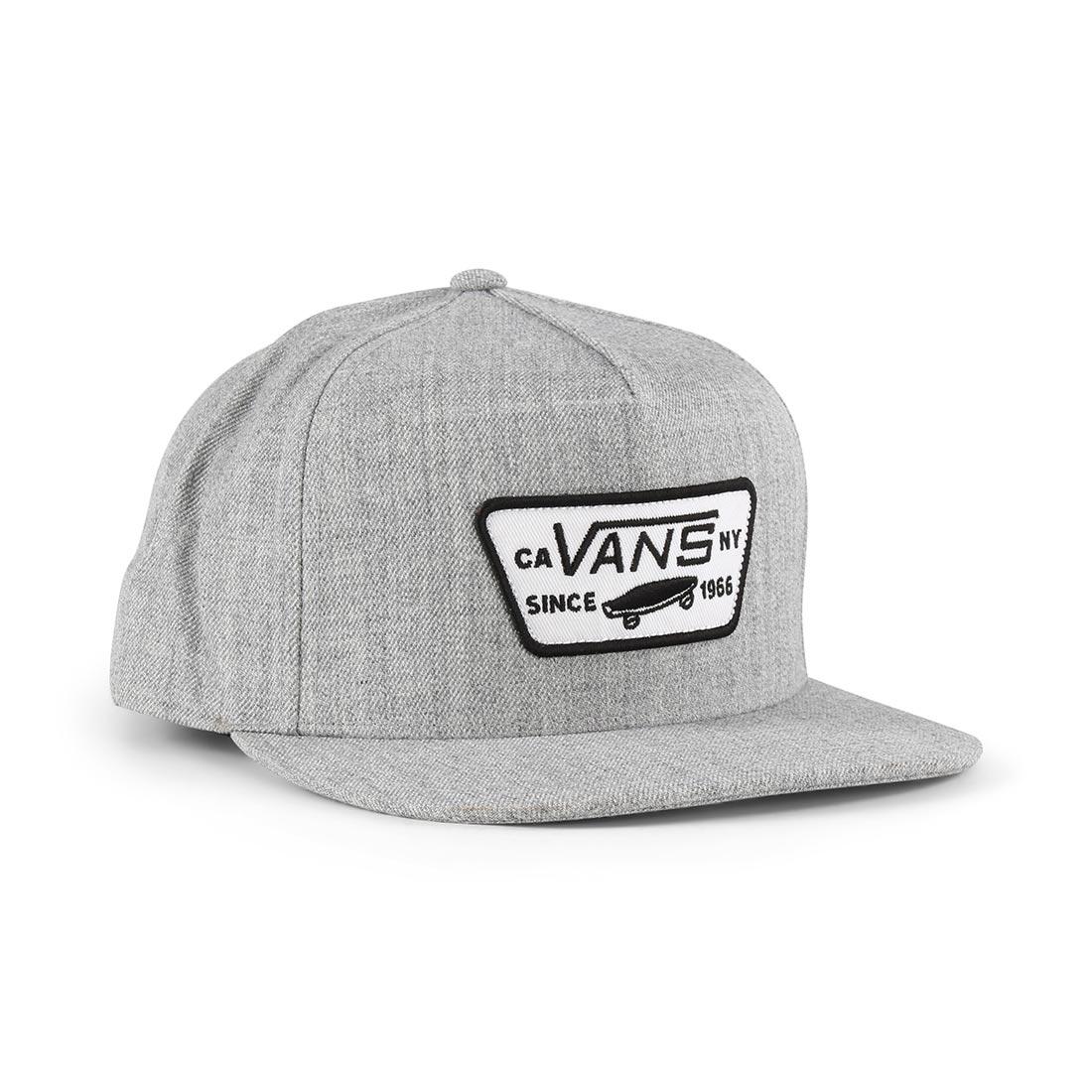 8b6b6c398851c6 Vans Full Patch Snapback Hat – Heather Grey