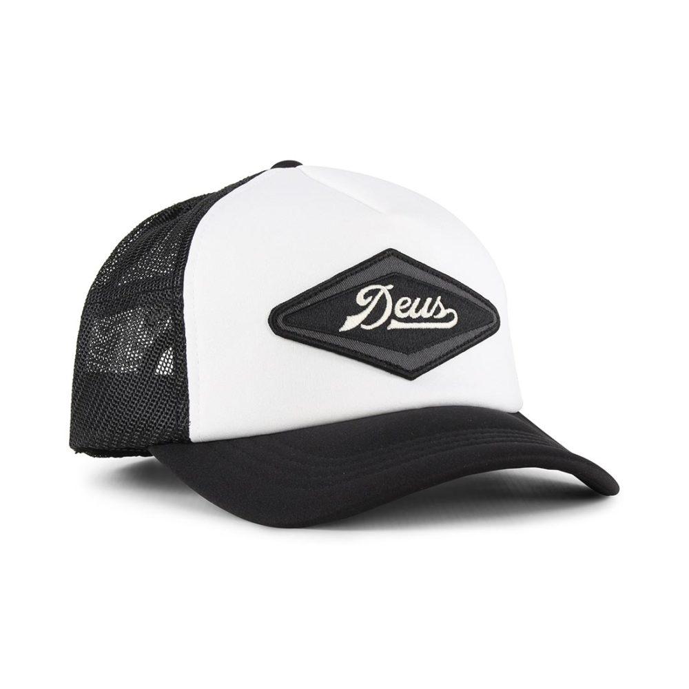 Deus Ex Machina Diamond Trucker Cap - Black / White