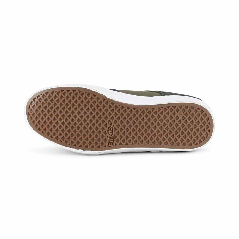 Emerica Reynolds Low Vulc Shoes - Grey / Green