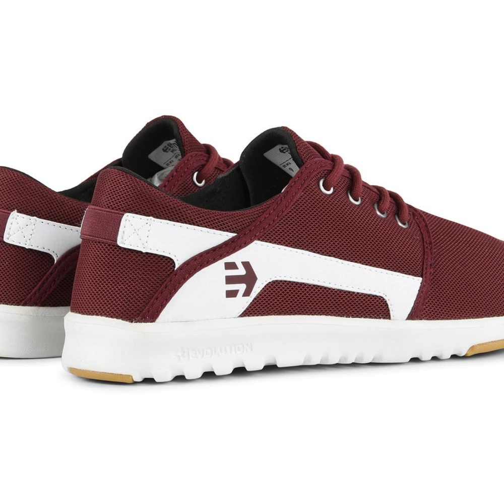Etnies-Scout-Shoes-Maroon-White-1