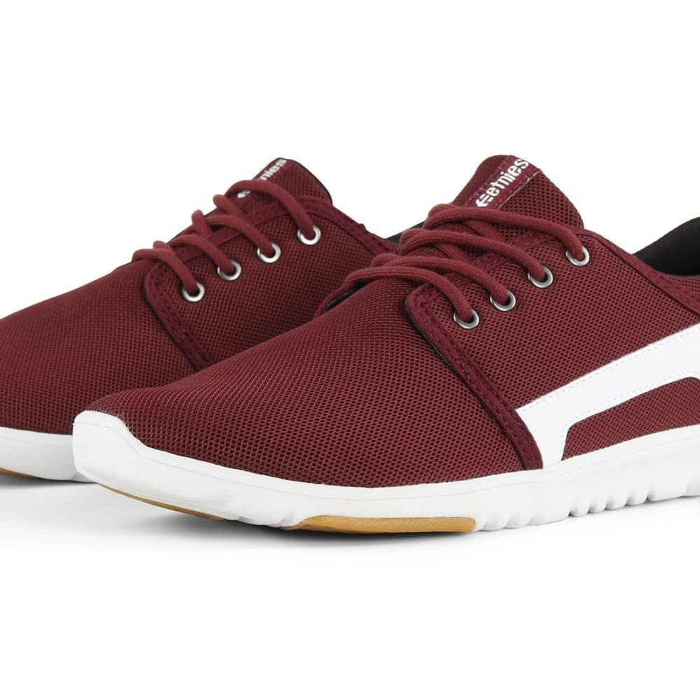Etnies-Scout-Shoes-Maroon-White-5