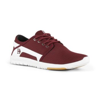 Etnies Scout Shoes - Maroon / White
