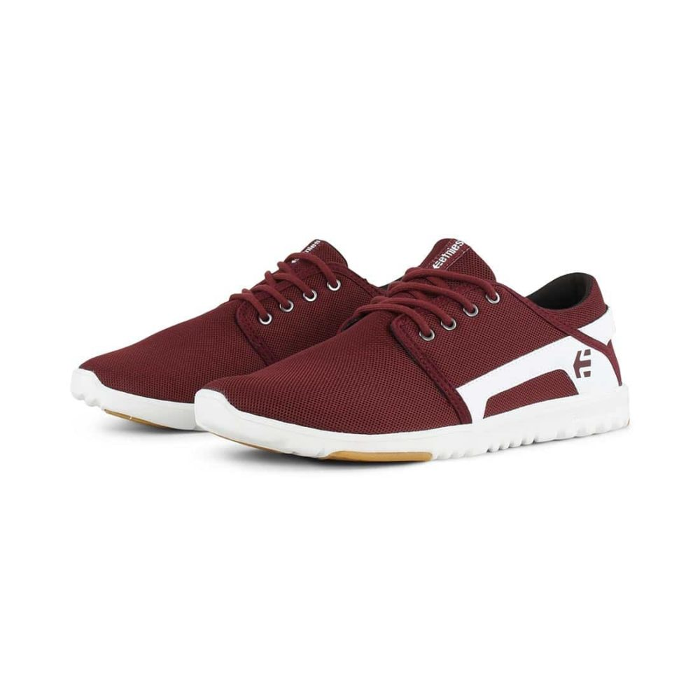 Etnies-Scout-Shoes-Maroon-White-7