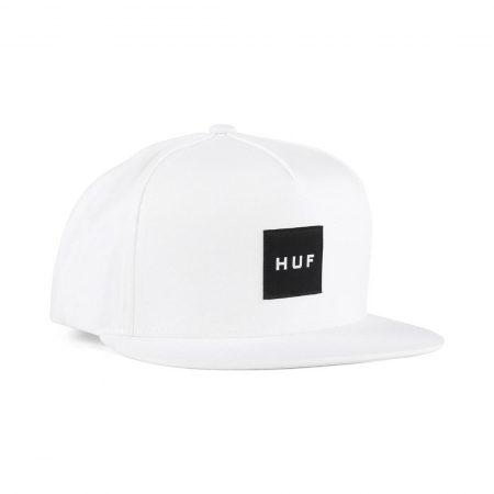 HUF Essentials Box Snapback Hat White