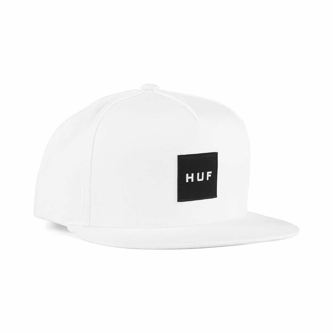 177a65262 HUF Essentials Box Snapback Hat - White