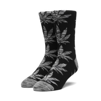 HUF Plantlife Melange Leaves Crew Socks - Black