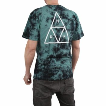 HUF Triple Triangle Tie Dye S/S T-Shirt - Deep Jungle