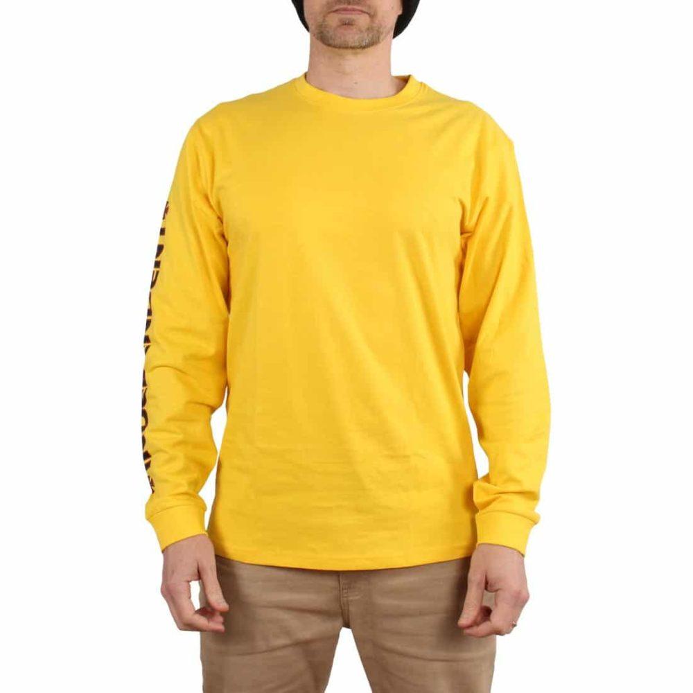 Independent Bar Cross L/S T-Shirt - Yellow