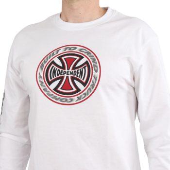 Independent TC Blaze L/S T-Shirt - White