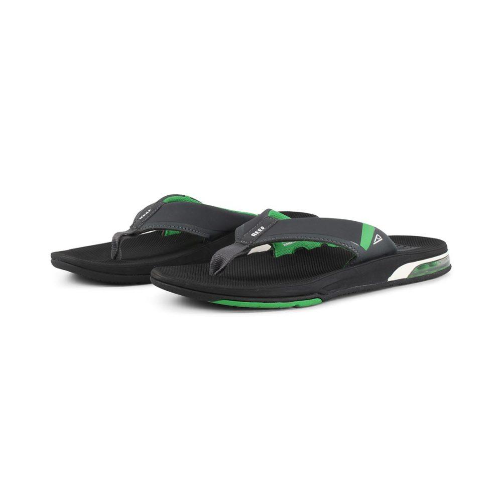 Reef Fanning Low Sandals - Black / Green