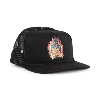 Santa Cruz Knox Firepit Mesh Back Cap - Black