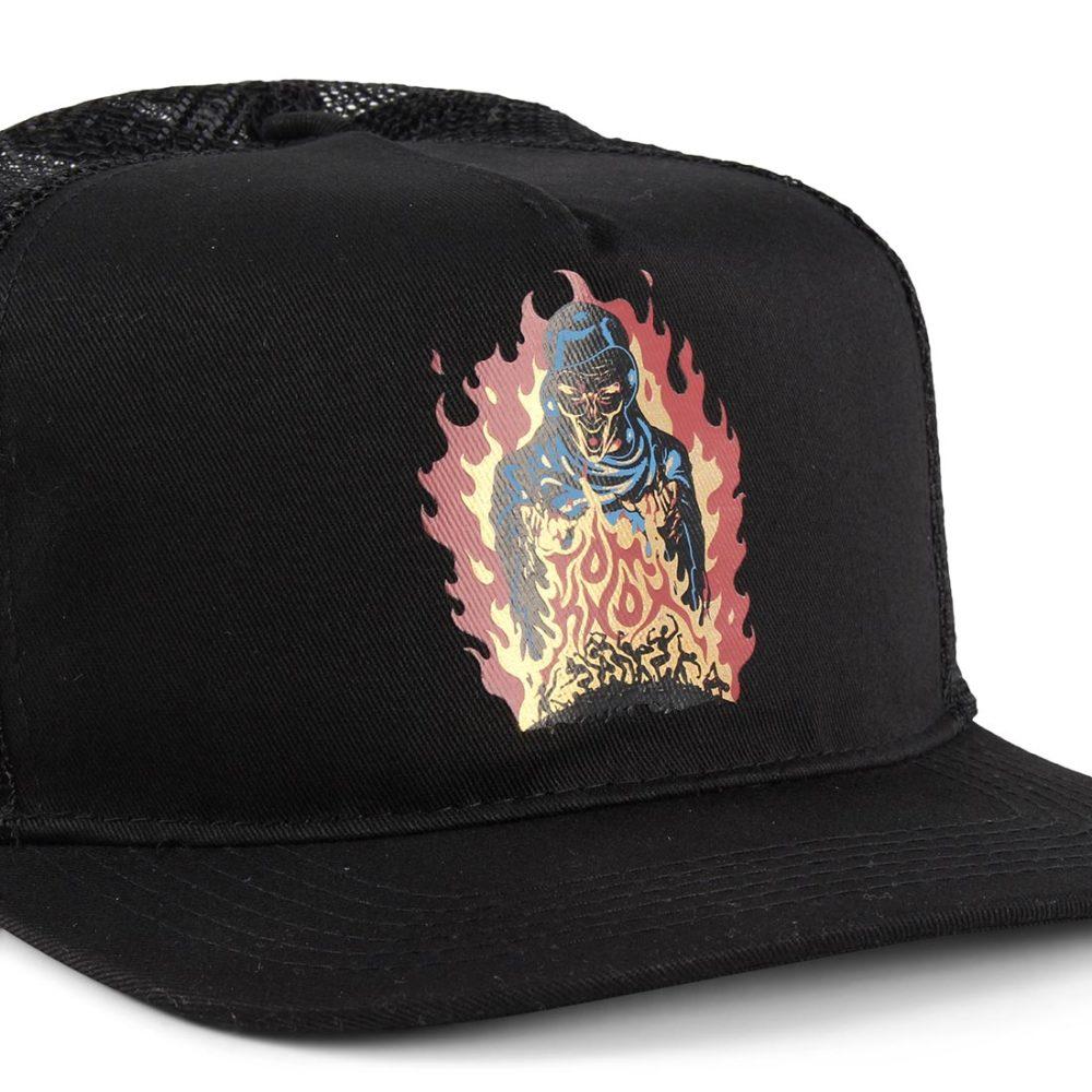 Santa Cruz Knox Firepit Mesh Back Cap - Black