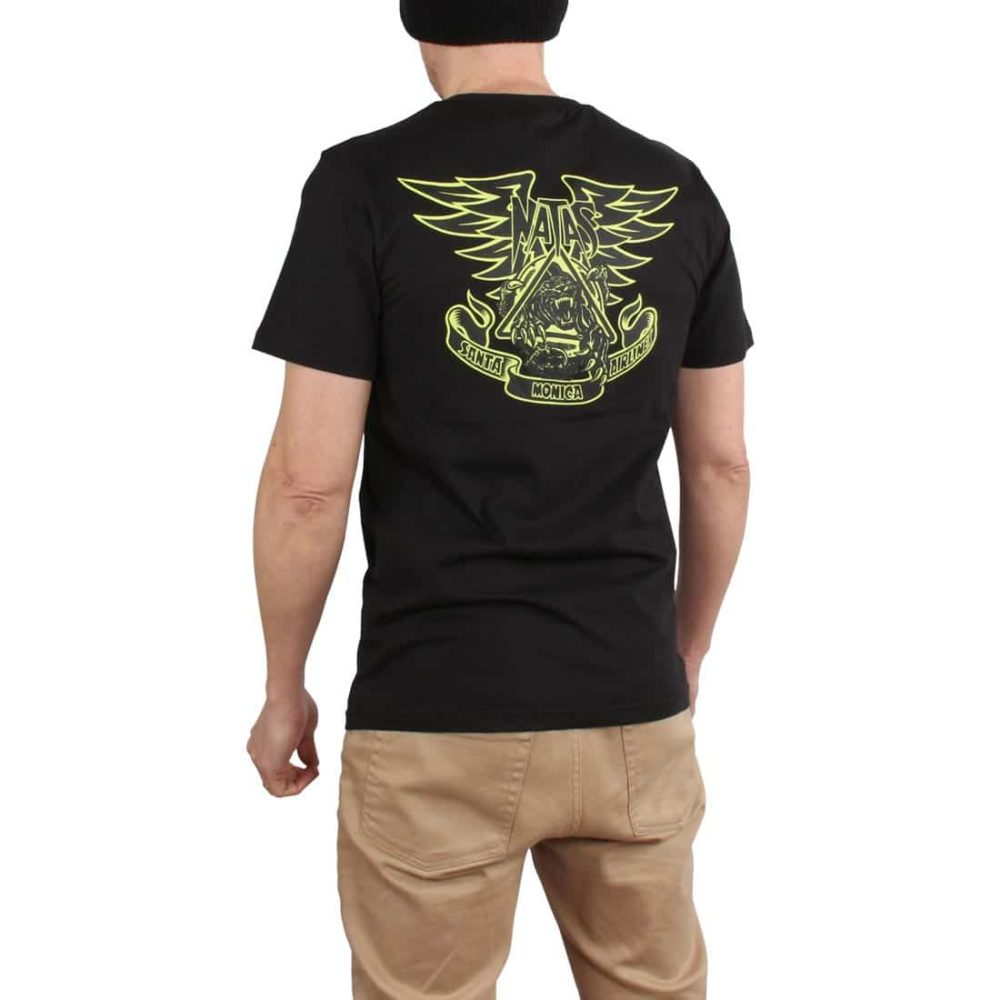 Santa Cruz Natas Panther S/S T-Shirt - Black