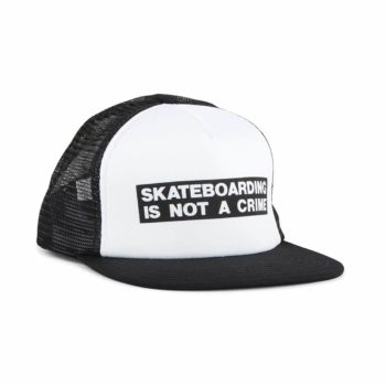 Santa Cruz Not A Crime Mesh Back Cap - White / Black