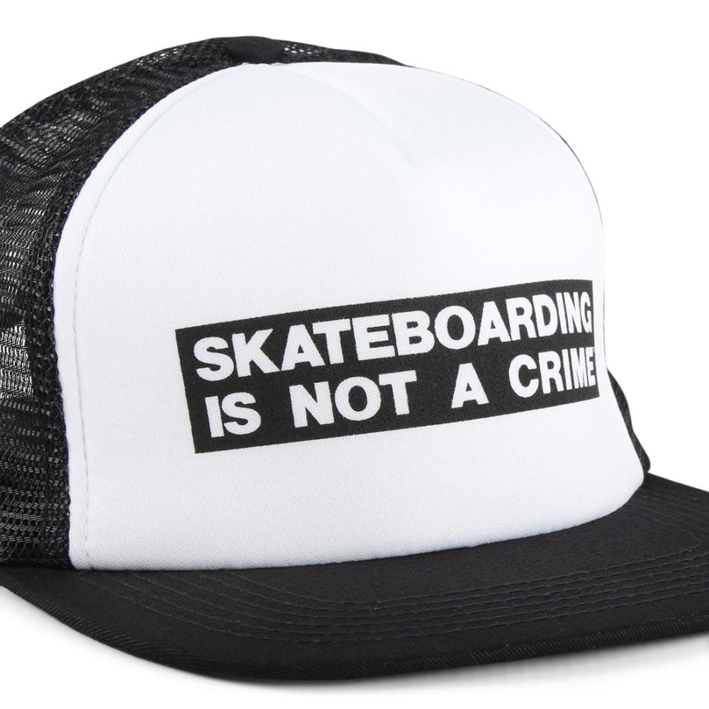 Santa Cruz Not A Crime Mesh Back Cap - White / Black