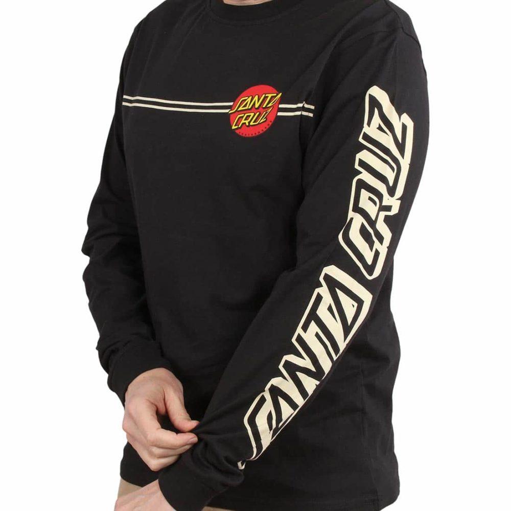 Santa Cruz OG Classic Dot L/S T-Shirt - Black