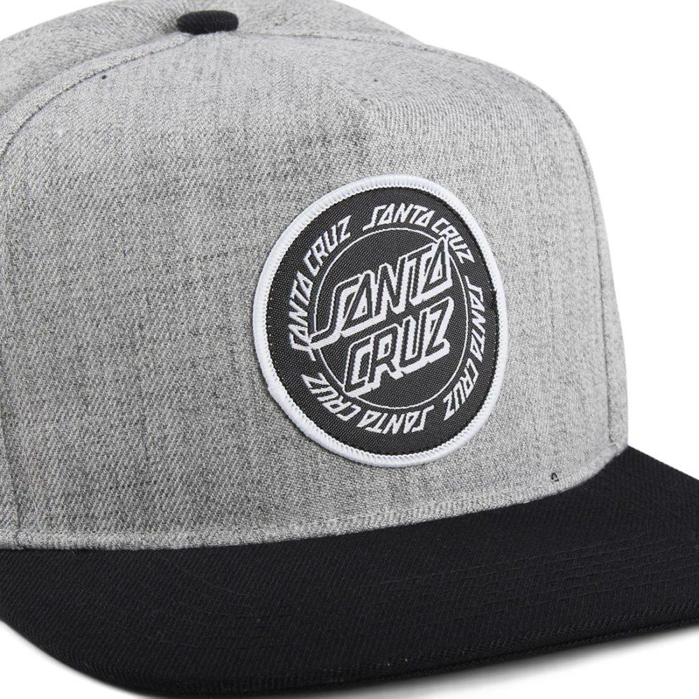 Santa Cruz Ring Dot Snapback Cap - Charcoal / Black