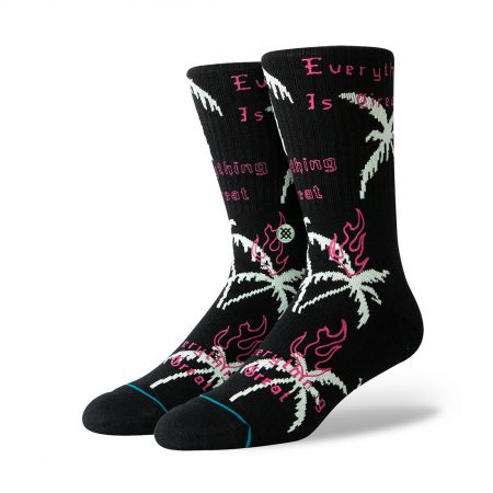 Stance Everything Is Great Socks - Black