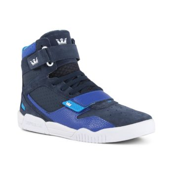 Supra Breaker High Top Shoes - Navy / Royal / White