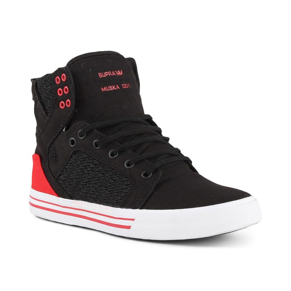 Supra Skytop Shoes - Black / Pirate Black / White