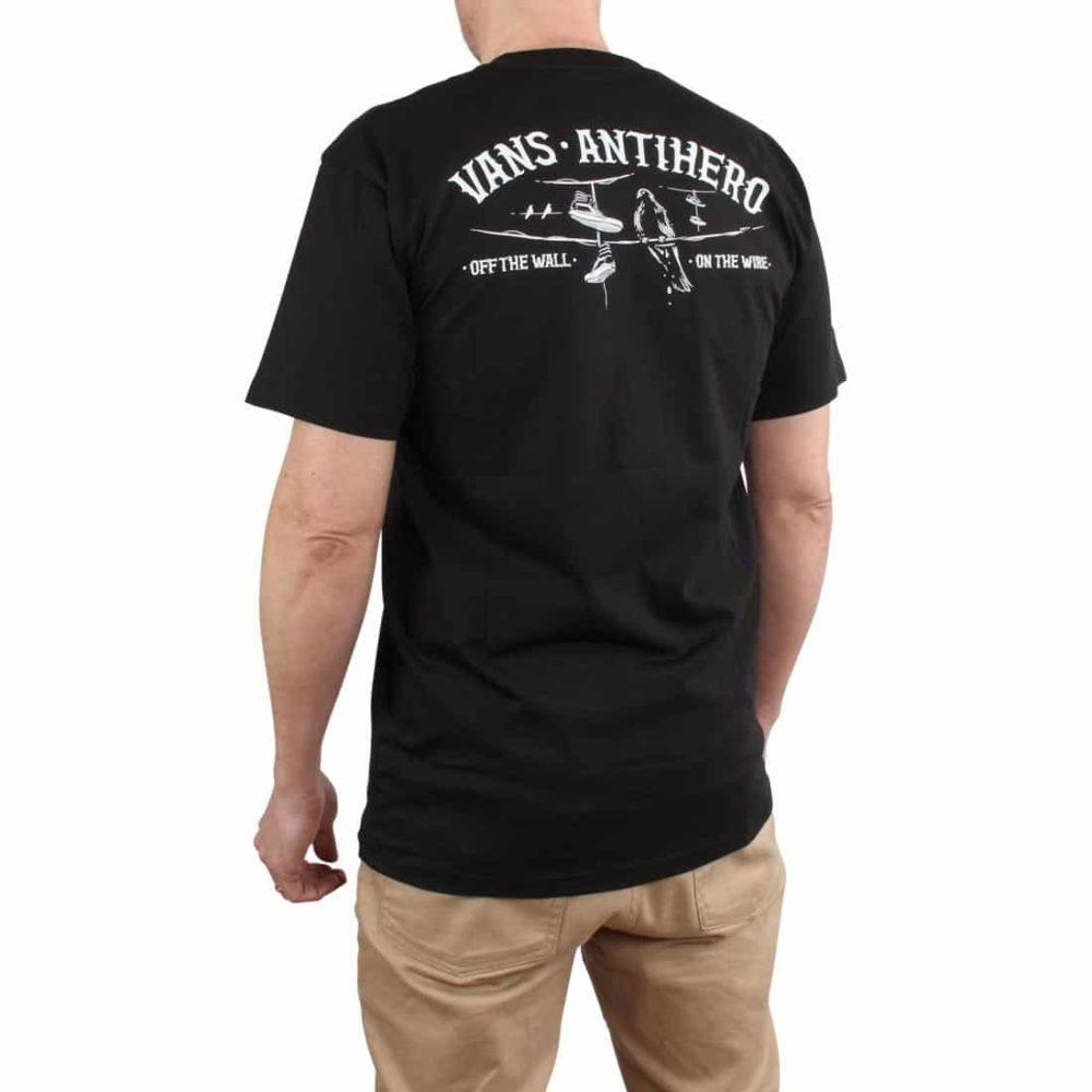 6ffddfd3db6005 Vans x Anti Hero On The Wire S S T-Shirt - Black