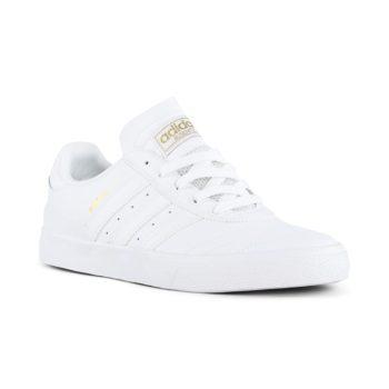 Adidas Busenitz Vulc Shoes - White / White / Gold Metallic
