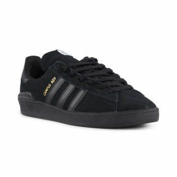 Adidas Campus ADV Shoes - Core Black / White / Gold Metallic