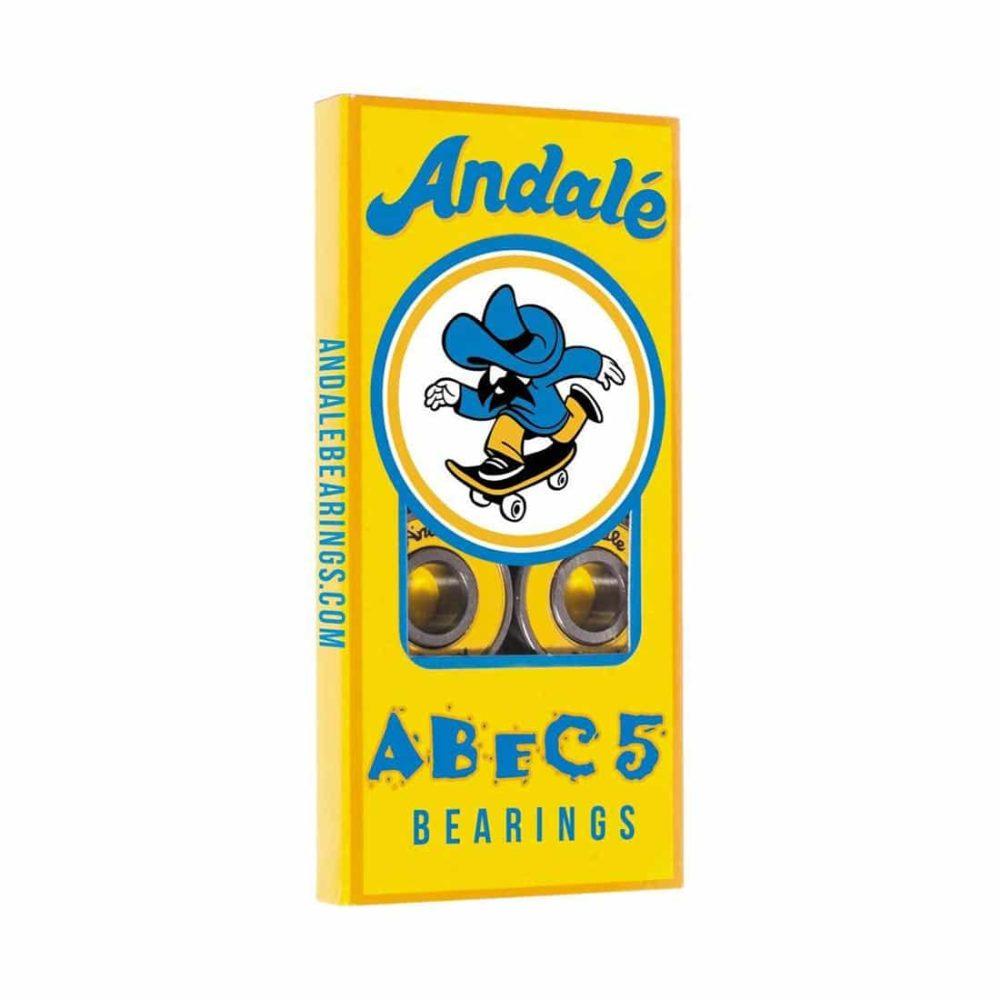 Andale Abec 5 Skateboard Bearings (8 Pack) - Yellow