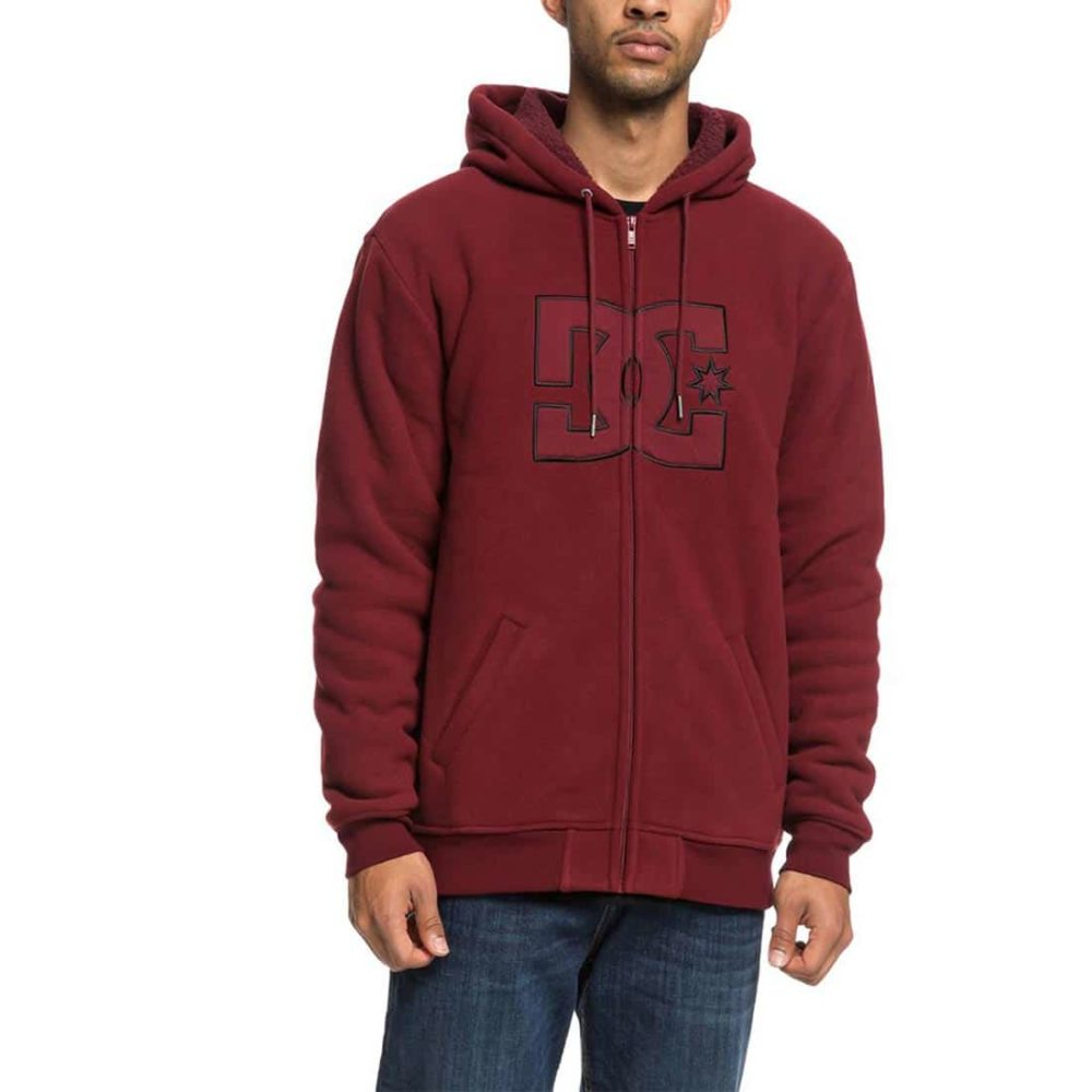 DC Shoes New Star Sherpa Zip Hoodie - Cabernet