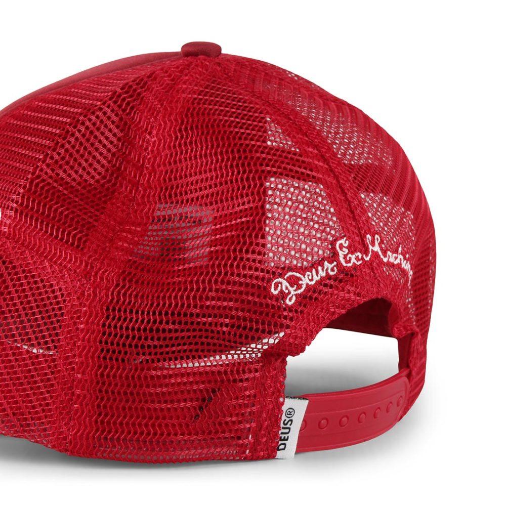 Deus Ex Machina Moretown Mesh Back Trucker Cap - Plum Red