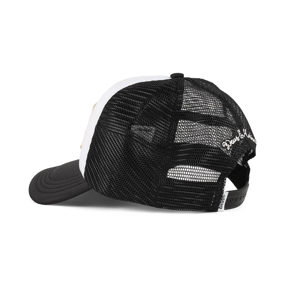 Deus Ex Machina Moretown Mesh Back Trucker Cap - White / Black