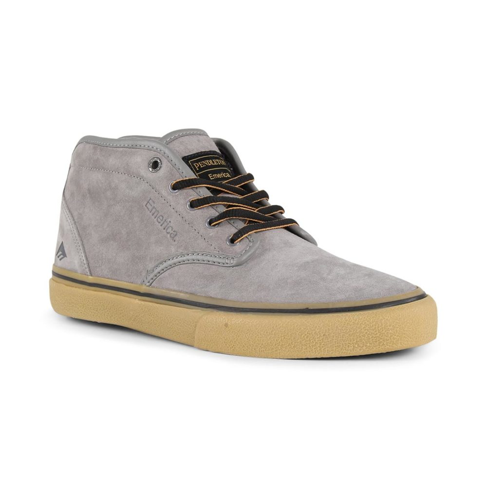 Emerica x Pendleton Wino G6 Mid Shoes - Grey / Gum