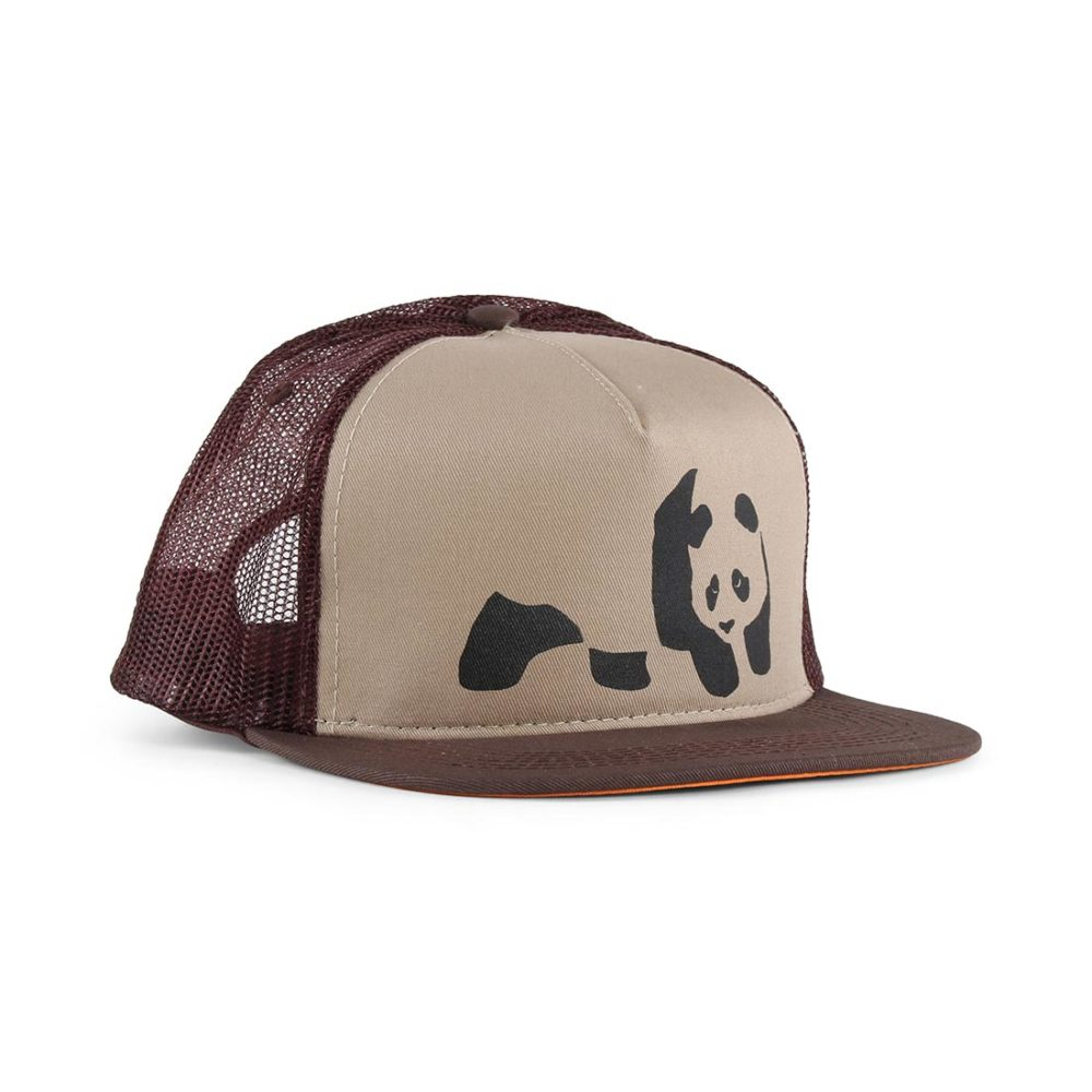 Enjoi Skateboards Panda Snapback Trucker Hat - Brown