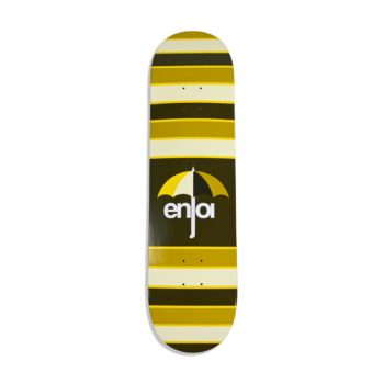 Enjoi Stripes HYB 8.25″ Skateboard Deck – Brown