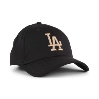 New Era LA Dodgers League Essential 39Thirty Cap - Black / Camel