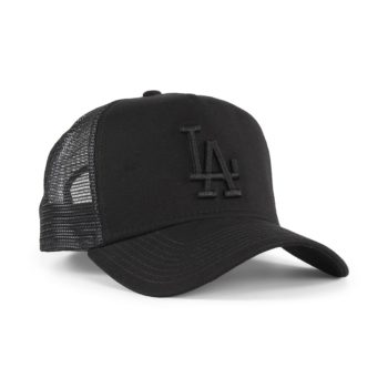 New Era LA Dodgers League Essentials Trucker Cap - Black / Black