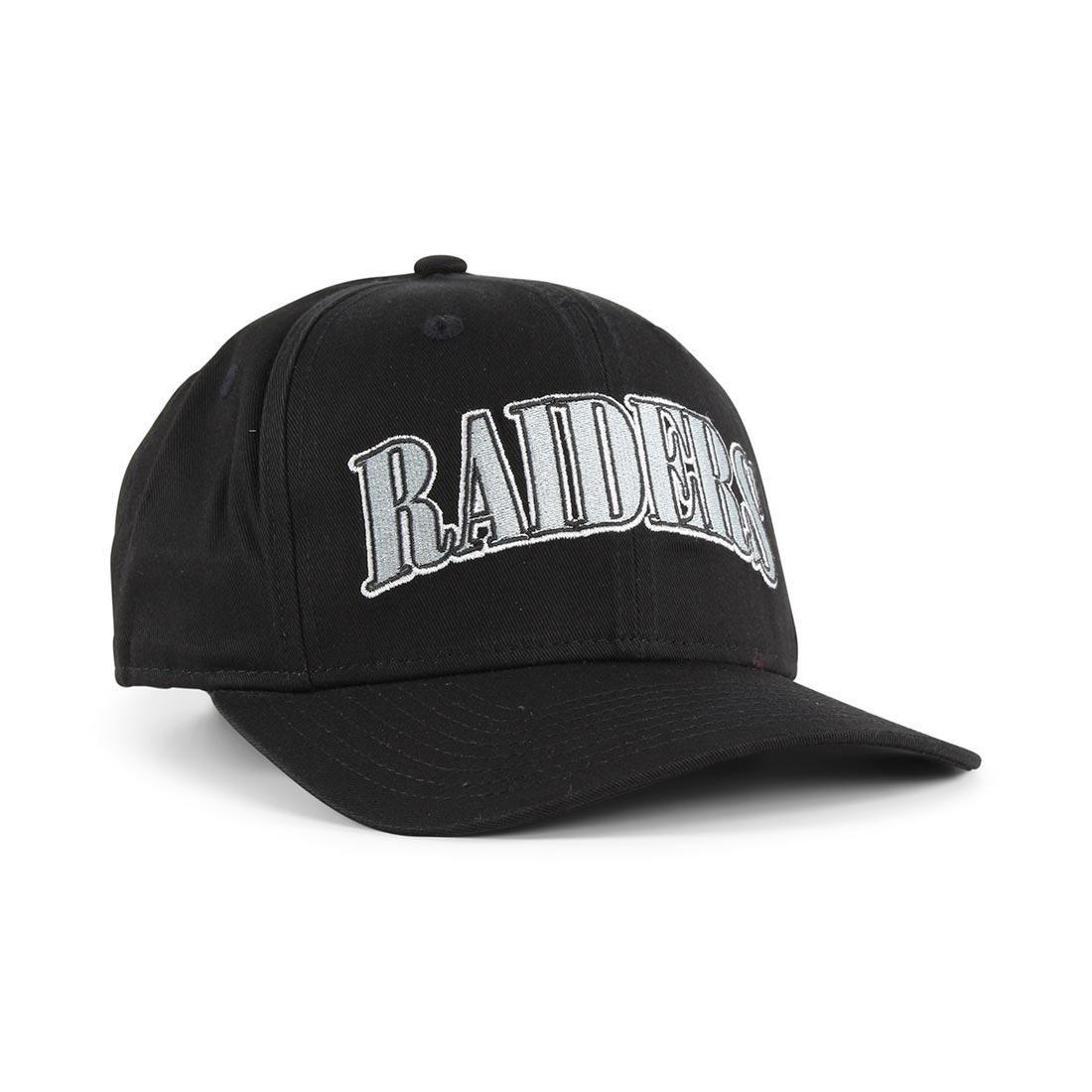 new styles da900 fcf9c New Era Oakland Raiders Pre Curved 9Fifty Cap – Black