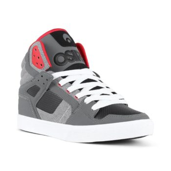 Osiris Clone High Top Shoes - Charcoal / Pattern / Red