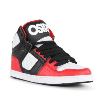 Osiris NYC 83 CLK High Top Shoes – Black / Red / White
