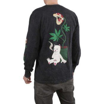 RIPNDIP Herb Eater L/S T-Shirt - Black Mineral Wash