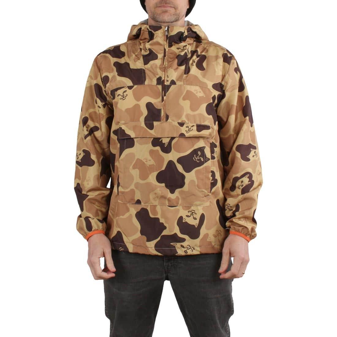 RIPNDIP Nermcamo Fanorak Packable Anorak Jacket - Desert Camo
