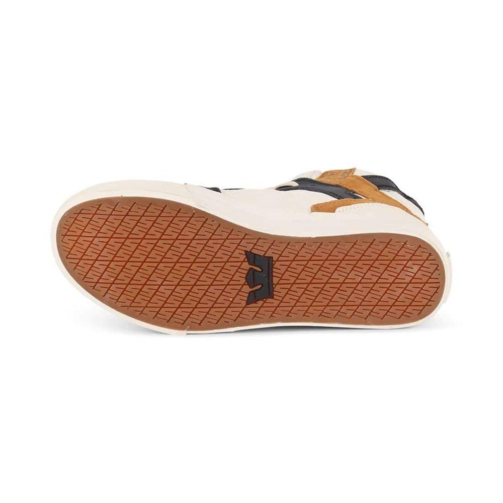 Supra Skytop Shoes - Bone / Black / Bone