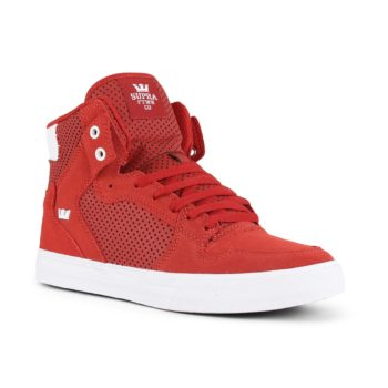 Supra Vaider High Top Shoes - Bossa Nova / White